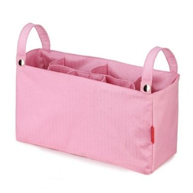 Baby Nappy Bag Multifunction Travel Portable Insert Nappy Storage Bag Stroller Organiser with 7 Pockets (Pink)