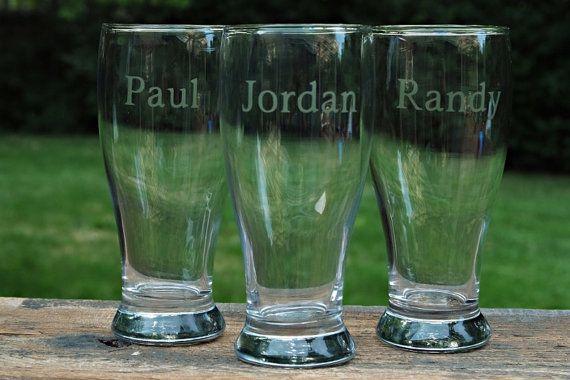 Personalized Beer Glasses Pilsner Glasses Beer Mugs by jamwecreate, $12.00