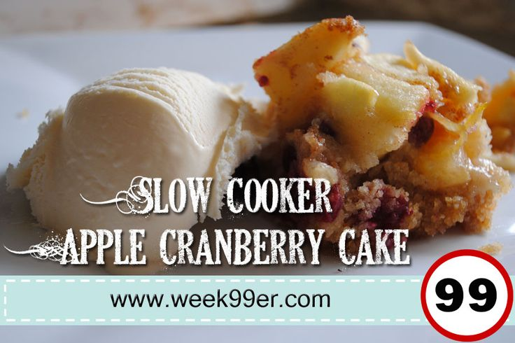 Slow Cooker Apple Cranberry Cake