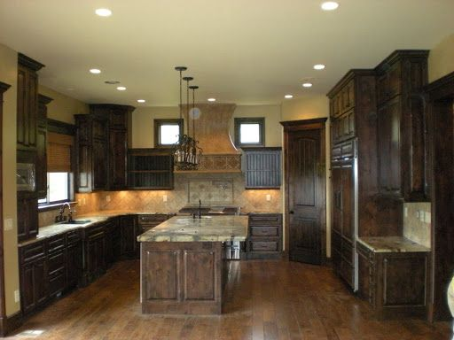 BLACK stained hickory cabinets image  Friday November 27
