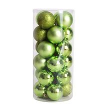 Горячая продажа 24 шт. Новогодние товары Популярные Рождество дерево, украшение шар стильный (фрукты зеленый)(China)