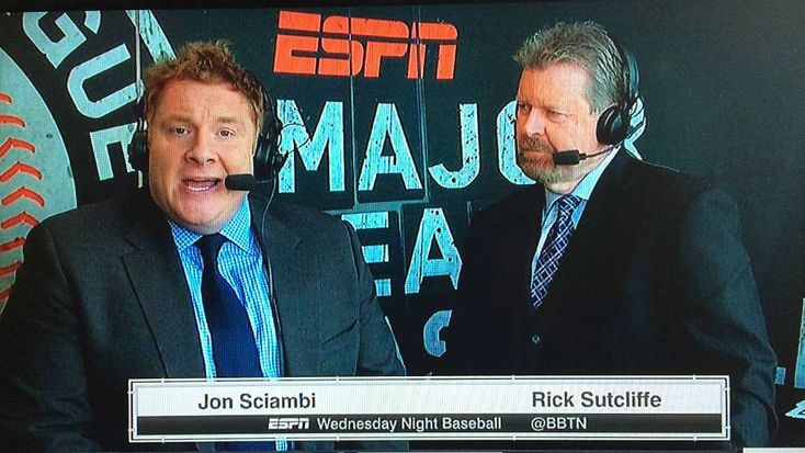 Jon 'Boog' Sciambi emerges as lead candidate to call ESPN's 'Sunday Night Baseball'  - January 1, 2018.  Image:   Jon Sciambi, Rick Sutcliffe