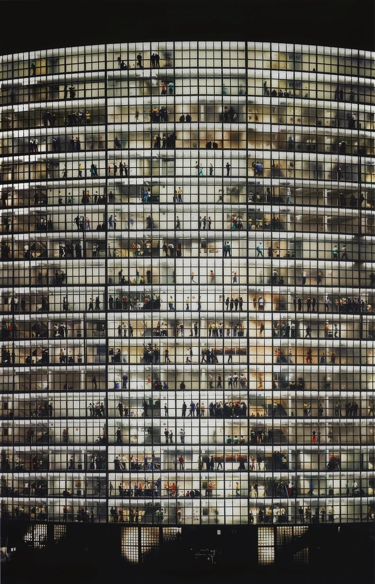 May Day V, 2007, by Andreas Gursky, a German visual artist known for his large format architecture and landscape color photographs.
