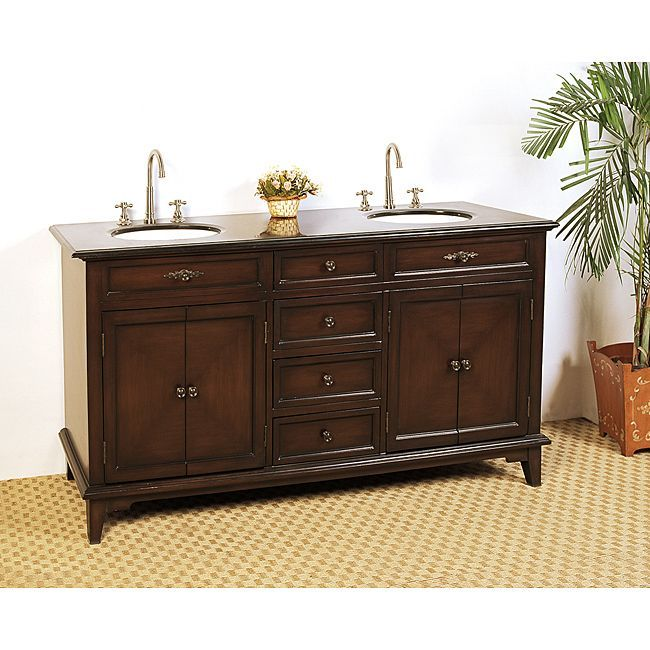Granite Top 69 Inch Double Sink Bathroom Vanity By Legion Furniture Bathrooms Decor Shopping