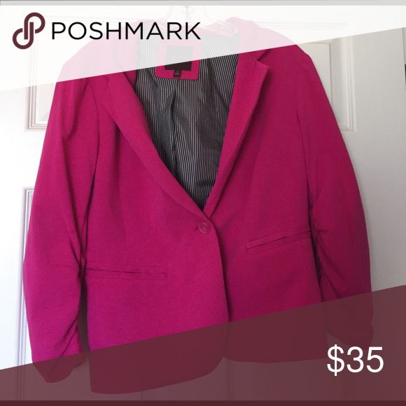 Hot Pink Blazer Can include more pictures if needed. The Limited Jackets & Coats Blazers