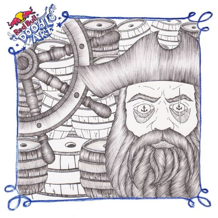 Red Bull Doodle Art Polidorou Mary
