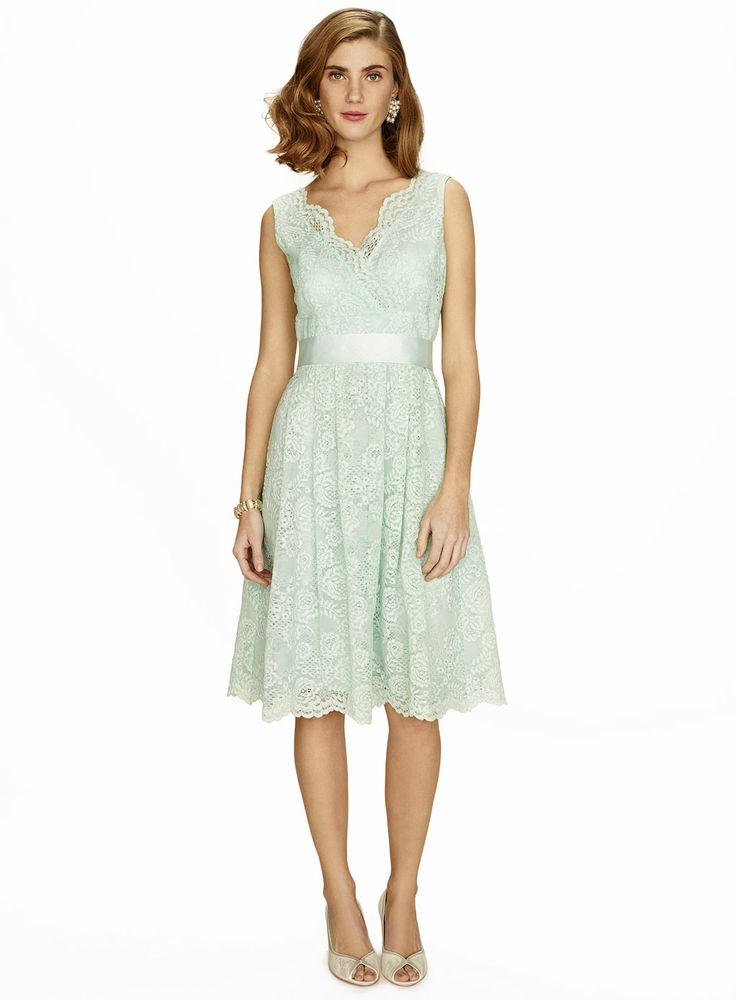 Mint green, lace, short, bridesmaid dress. BHS - £95.00 sizes 6-22