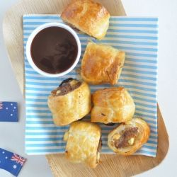 Lamb, feta and mint sausage rolls - perfect for Australia day