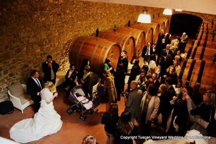 Our New Wine Cellar #weddingTuscany #weddingItaly  www.tuscanvineyardwedding.com