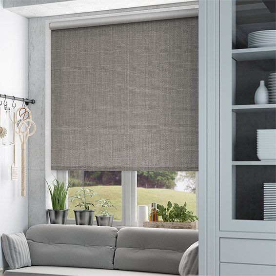 Choices Cavendish Mid Grey Roller Blind from Blinds 2go                                                                                                                                                     More