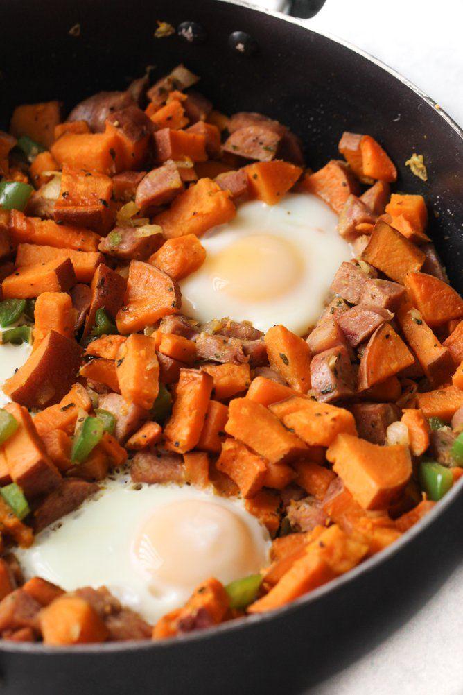 Sweet Potato Sausage Hash