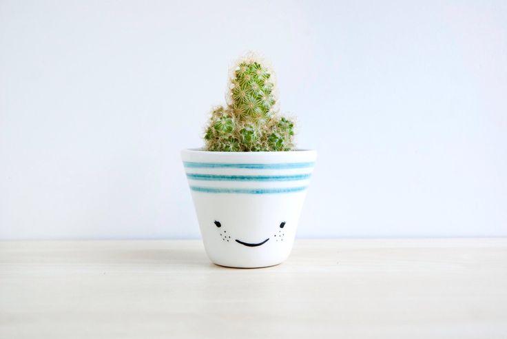 Ceramic planters, Ceramic planter, Succulent planter, Ceramics & pottery, Flower plant pot, kawaii house, kawaii ceramic, cacti planter by noemarin on Etsy https://www.etsy.com/uk/listing/242009367/ceramic-planters-ceramic-planter