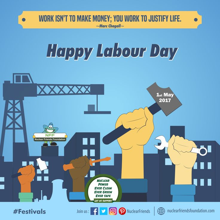 #Festivals Work isn't to make money; you work to justify life. Happy Labour Day visit us @ www.nuclearfriendsfoundation.com #LabourDay #MayDay #Safe #Power #NuclearEnergy #Energy #ClimateChange #MondayMotivation