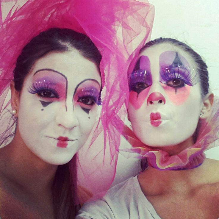 Maquillaje artistico, payaso, arlequín. | Make up | Pinterest