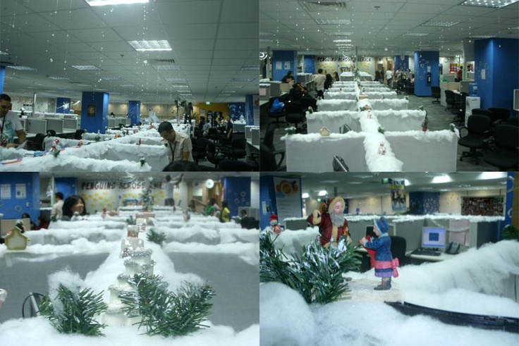 Decorated Cubicles for Christmas season!  #cubicledecorations