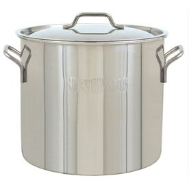 Bayou Classic 40-Quart Stainless Steel Stock Pot With Lid 1440