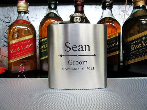 9 Groomsman Flask Gift Set  Best Man Gift Flask  by AwardSourceLLC, $126.00