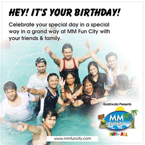 Hey! It's your birthday! Celebrate your special day in a special way in a grand way at MM FUN CITY with your friends & family.  #Birthday #Celebration