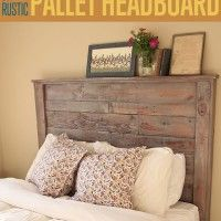 Want to know how to make a headboard out of a repurposed pallet? Pallets are easy to work with and making a pallet headboard would make for great bedroom decor (and you can follow it up with a pallet table to display all your crafts projects!). If you're looking