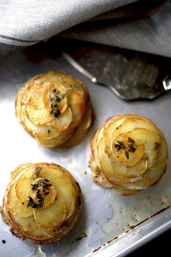 Картофель по-французски. Мини Pommes Anna с Тимьяном / Mini Herbed Pommes Anna