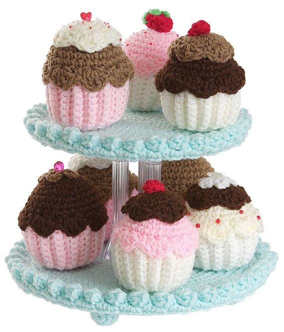 Crochet Cupcake Tree pattern pdf by gourmetcrochet on Etsy, $7.99