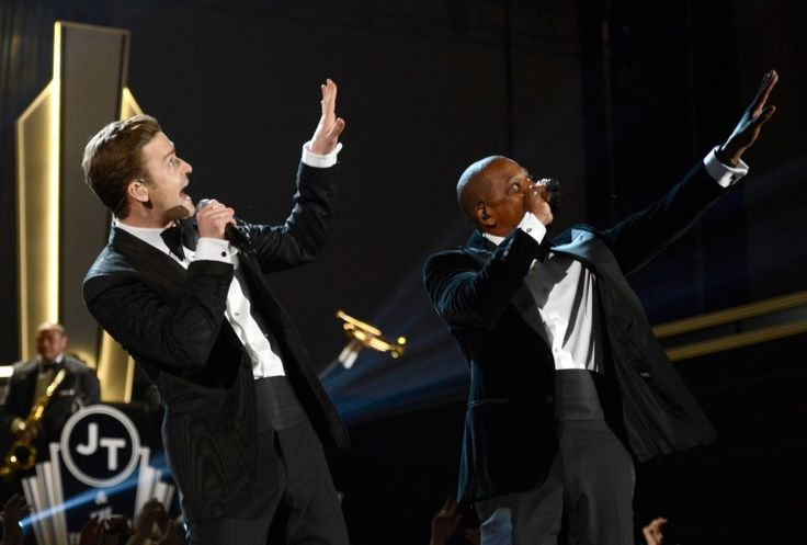 "Throw your hands in the air and wave 'em around like you just don't care if you loved this performance. Justin Timberlake and Jay Z dance through ""Suit & Tie"" at the 55th GRAMMY Awards in 2013Grammy 2013, Grammy Awards, Jay Z, Justin Timberlake, Grammy Performing, Jayz Tours, Timberlake Performing, Hit Suits, 2013 Grammy"