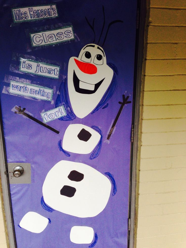 Classroom Decoration Ideas Fort Worth ~ Frozen classroom door decorations olaf quot some people are