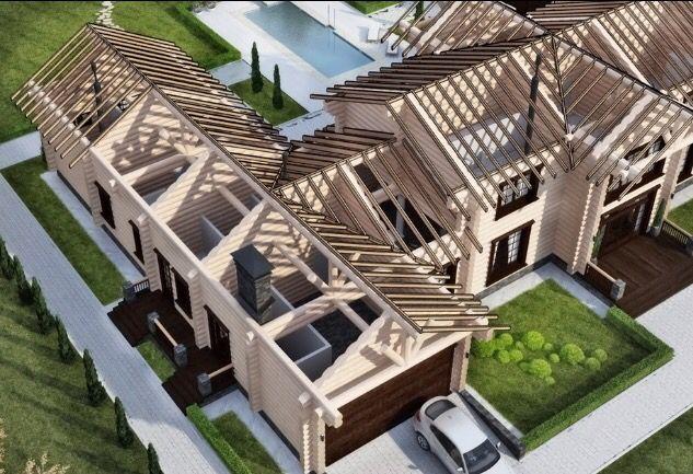 Крыша дома в разрезе