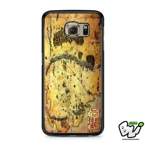 Brown Classic Middle Earth Map Samsung Galaxy S7 Case