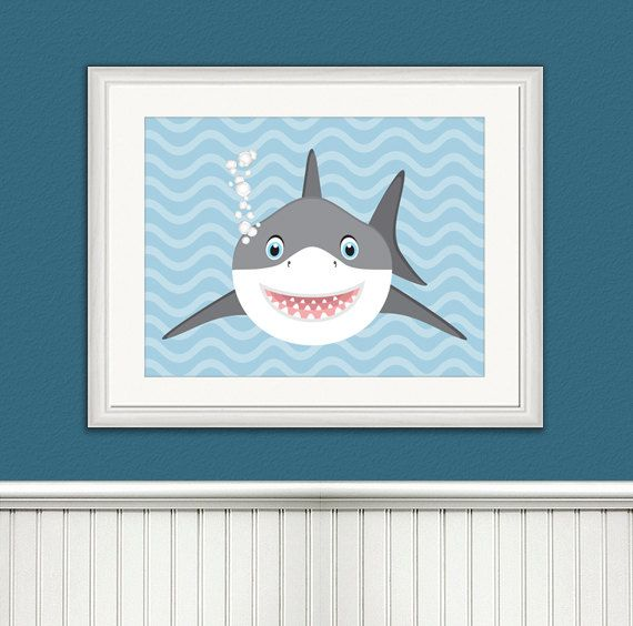 Baby Shark Illustration Shark Art Shark by ToobigshoesCreative