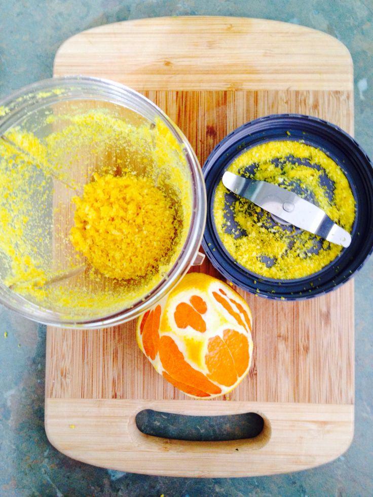 Smile! I just made grating orange rind the easiest job ever in the nutribullet using the milling blade #nutribullet