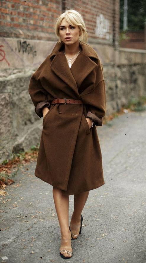 Dark Camel Oversize Coat