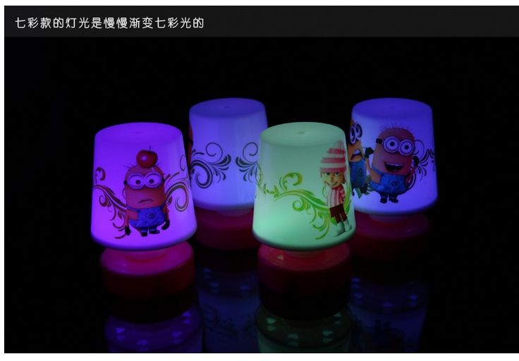 2016 Sale Led Toy Christmas Gift Colorful 7 Colors Changing Lights Despicable Me Minions Pat Table Lamp Night Light Toy Al3292-in Night Lights from Lights & Lighting on Aliexpress.com   Alibaba Group