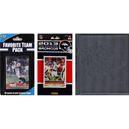 C Collectables NFL Denver Broncos Licensed 2013 Score Team Set and Favorite Player Trading Card Pack Plus Storage Album