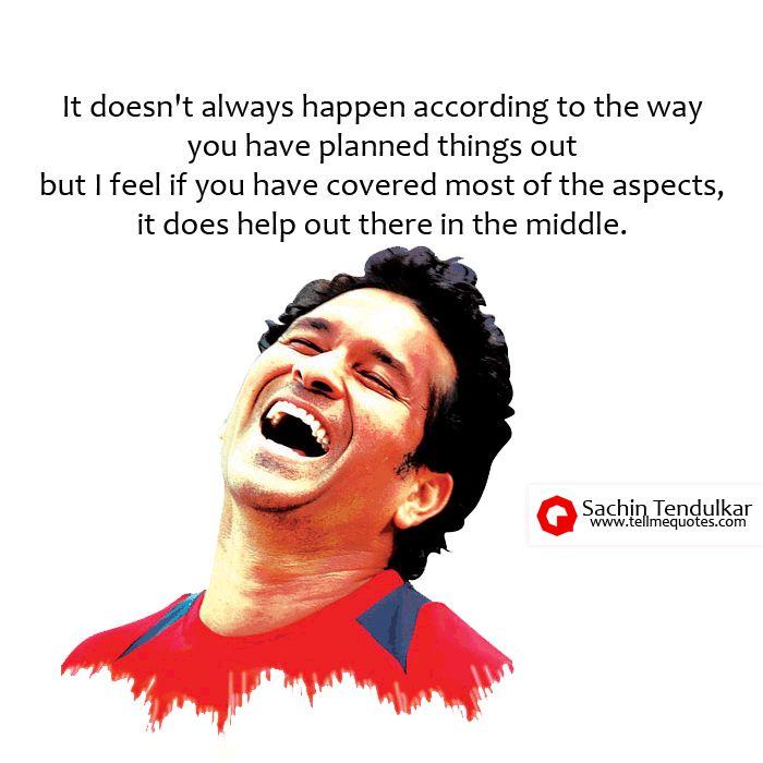 Sachin Tendulkar Quotes - TellMeQuotes