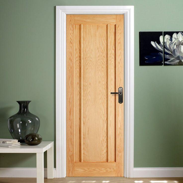 Bespoke Lincoln 3 Panel Oak Fire Rated Door.      #door #firedoor #oakdoor #oakfiredoor #internaldoor #interiordesign #firerateddoor