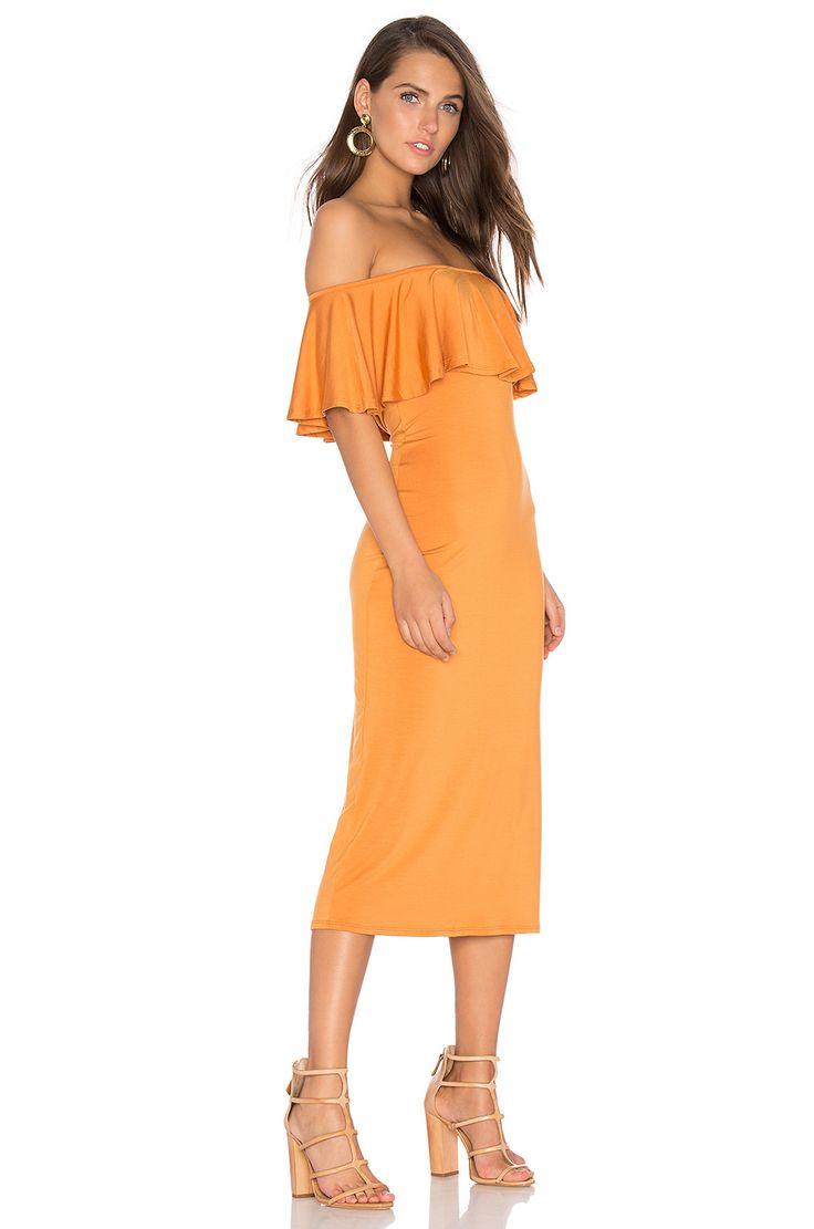 Rachel Pally | Ruffle Midi Dress in Flan | REVOLVE