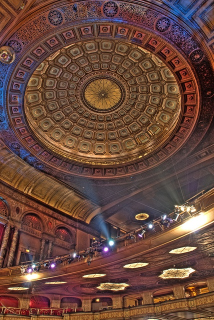 Fillmore Theater Detroit HDR 02 by jdips01, via Flickr...this was known as the Palms Theater when it was built in 1925 and then known as the State Theater.
