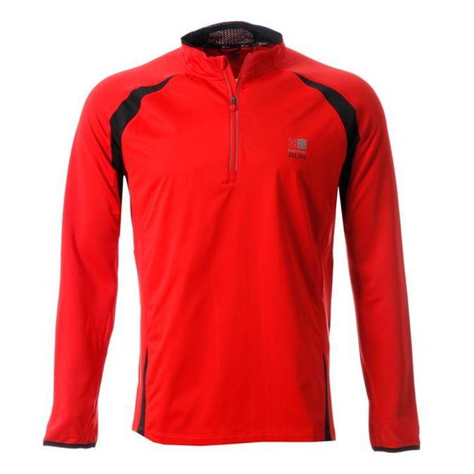 Karrimor | Karrimor Xlite Long Sleeved Zipped Tee | Mens Running Clothing