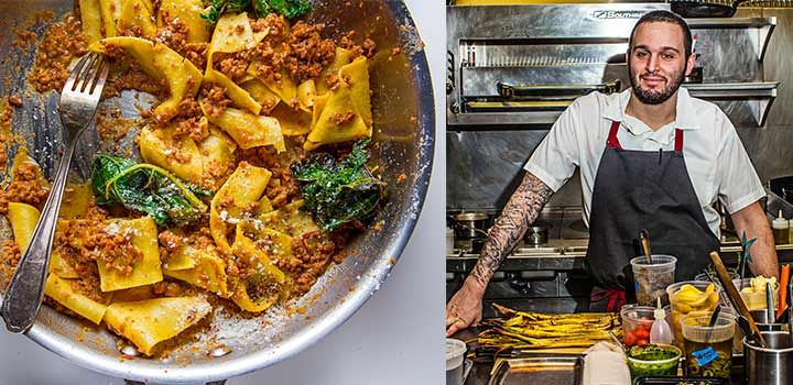 Boston's most exciting restaurant may be in Brookline--Tim Maslow's  Ribelle. Bring his Italian-skewing menu home with his ragù recipe. Make it  today!