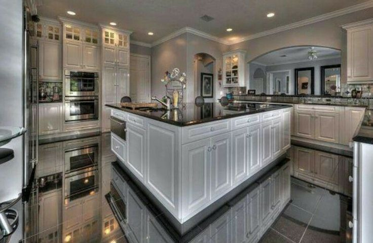 Kitchen white cabinets marble floors kitchen design for Beautiful modern white kitchens