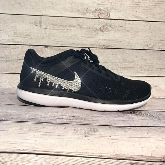 28acecf29f3f2 bling nikes- crystal nikes- bling workout shoes- sparkly nikes- dripping  crystal nikes- workout gear in 2019