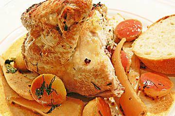 Cidre - Hühnchen mit Teltower Rübchen