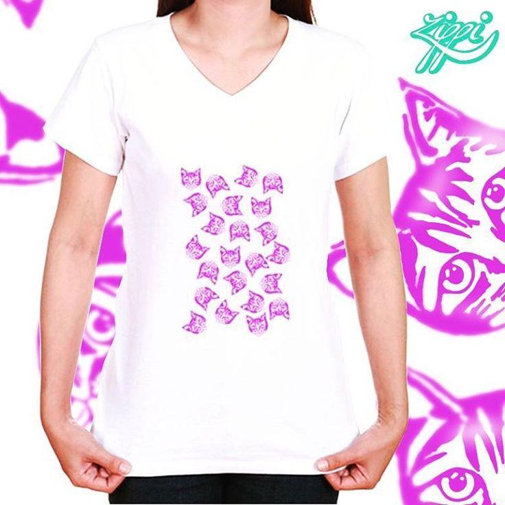 'Magenta Mollys' - T Shirt now @zippi - find it here: https://www.zippi.co.uk/magenta-mollys-t-shirt #magenta #cat #instacat #muddle #mollycat #mollycatfinland #zippi #cats #catsofinstagram #catscatscats #catoftheday #catfashion #crazycatwoman #womensfashion #vneck #white #whitetees #whitetshirt #catdesign #design #art #instaart #designerwear