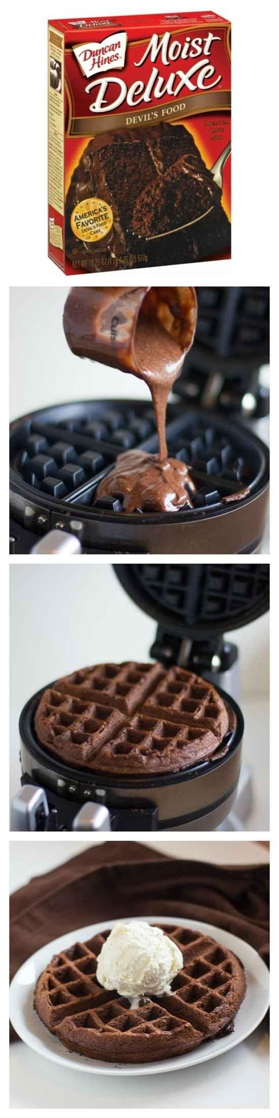 Waffle Chocolate Cake