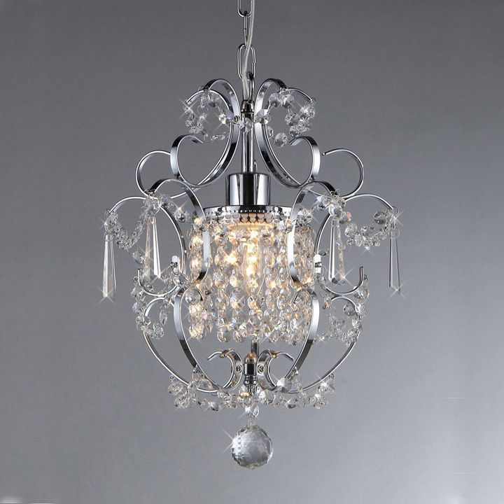 Enjoy the delicate elegance of this Jess cascading crystals chandelier. This imported chandelier is perfect for illuminating almost any room in your house, and its chrome finish will add a touch of modern majesty to your existing decor.