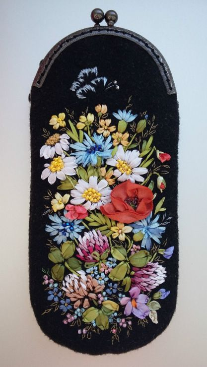 Best images about ribbon embroidery purses bags etc