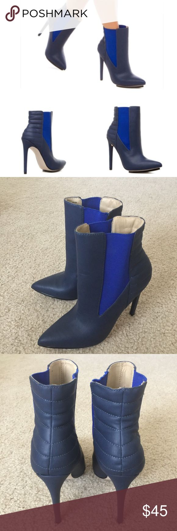 "GX by Gwen Stefani booties Gorgeous pair of blue booties by GX by Gwen Stefani. Size 7. // 4.75"" heels. These were worn once and are in great condition. Refer to photos and zoom in for details. Retails for $90. Please ask questions 💫 GX by Gwen Stefani Shoes Ankle Boots & Booties"