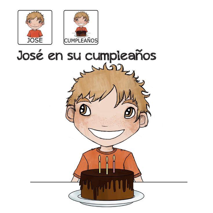"""""""El cumpleaños de José"""" - sin ánimo de lucro que consiste en la creación, producción y difusión de cuentos infantiles adaptados a pictogramas para niños con autismo y otras necesidades especiales de aprendizaje, http://www.aprendicesvisuales.com/cuentos/"""