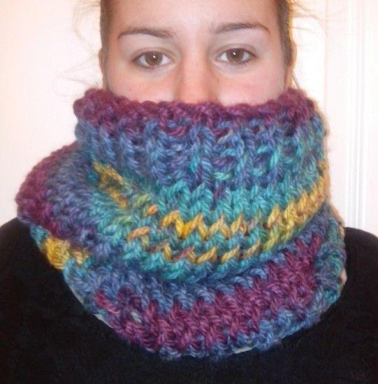 Cuello lana multicolor